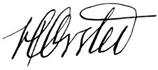 Oerstedův podpis